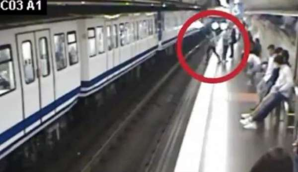 Chilling Video Shows Woman, Busy On Phone, Falling In Front Of Train