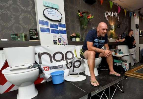 Man Spends Almost Five Days Sitting On A Toilet Bowl, Sets World Record