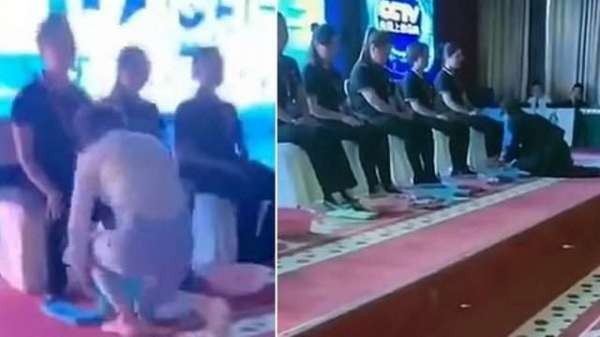 Chinese Bosses Wash Employees' Feet To Thank Them For Working Hard