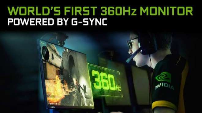 NVIDIA unveils a 360Hz 'world's fastest' esports display